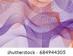 abstract background with... | Shutterstock .eps vector #684944305