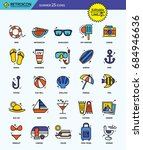 modern retro thin line icons... | Shutterstock .eps vector #684946636