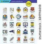 modern retro thin line icons... | Shutterstock .eps vector #684946648