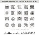 geometric mono line   ornament... | Shutterstock .eps vector #684948856
