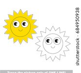 funny sun star face to be...   Shutterstock .eps vector #684950938