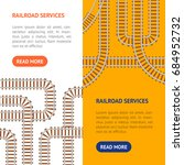 railroad map banner vecrtical... | Shutterstock .eps vector #684952732