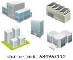buildings icon 3d | Shutterstock .eps vector #684963112