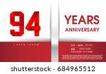 94th years anniversary...   Shutterstock .eps vector #684965512