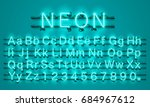 neon city color lime green font.... | Shutterstock .eps vector #684967612