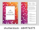 abstract vector layout... | Shutterstock .eps vector #684976375