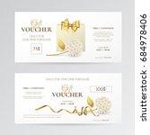 vector set of elegant gift... | Shutterstock .eps vector #684978406