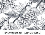 vector seamless pattern with... | Shutterstock .eps vector #684984352