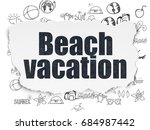vacation concept  painted black ... | Shutterstock . vector #684987442