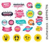 sale shopping banners. beach... | Shutterstock .eps vector #684996796