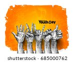 international youth day 12... | Shutterstock .eps vector #685000762