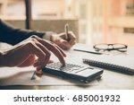 close up hands businessman... | Shutterstock . vector #685001932