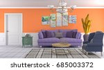 interior living room. 3d... | Shutterstock . vector #685003372