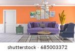 interior living room. 3d... | Shutterstock . vector #685003372