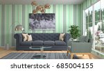interior living room. 3d... | Shutterstock . vector #685004155