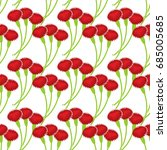 carnation seamless pattern.... | Shutterstock . vector #685005685