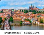 czech republic. city of prague. ... | Shutterstock . vector #685012696