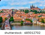 czech republic. city of prague. ... | Shutterstock . vector #685012702