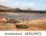 salines lake at salt island ... | Shutterstock . vector #685019872