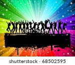 silhouettes of lots of people... | Shutterstock .eps vector #68502595