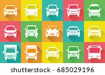 icon gallery of simple car  | Shutterstock .eps vector #685029196