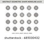 geometric set    Shutterstock .eps vector #685030432