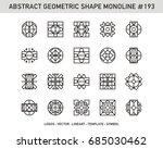 geometric set  | Shutterstock .eps vector #685030462
