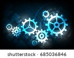 vector abstract background... | Shutterstock .eps vector #685036846