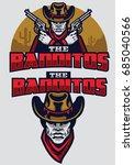 wild west bandit mascot | Shutterstock .eps vector #685040566