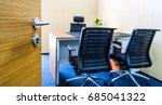 modern office interior open the ... | Shutterstock . vector #685041322