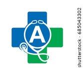 abstract medical logo | Shutterstock .eps vector #685043302