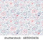 seamless pattern in school... | Shutterstock .eps vector #685043656