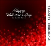 flying hearts valentine's day... | Shutterstock .eps vector #68504458