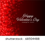 flying hearts valentine's day... | Shutterstock .eps vector #68504488