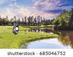golf equipment and golf bag ...   Shutterstock . vector #685046752