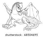 cartoon outline illustration of ... | Shutterstock . vector #68504695