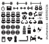 gym workout equipment | Shutterstock .eps vector #685050136