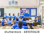 the classroom blur  the... | Shutterstock . vector #685050628