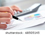 close up of specialist checking ... | Shutterstock . vector #68505145