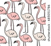 cute summer print with flamingo. | Shutterstock .eps vector #685051786