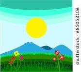 Landscape Mountain Vector In...
