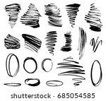 set of grunge painted vector... | Shutterstock .eps vector #685054585