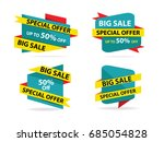 colorful shopping sale flyer... | Shutterstock .eps vector #685054828