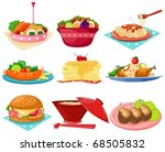 illustration of isolated set of ... | Shutterstock .eps vector #68505832