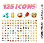 set of realistic cute icons on... | Shutterstock .eps vector #685061218