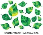 green leaves design on white...   Shutterstock .eps vector #685062526
