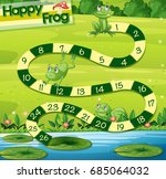 boardgame template with green... | Shutterstock .eps vector #685064032