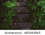 Old Wood Steps At A Footpath I...