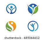 human character logo sign | Shutterstock .eps vector #685066612