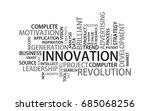 innovation tag cloud  vector | Shutterstock .eps vector #685068256